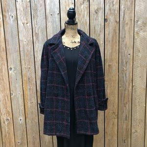 VTG 80's DOES 50's PLAID SWING COAT by Dani Colby